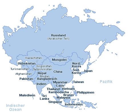 Karte Russland Asien.Reisen Asien Günstig Buchen Ab 43 P P Reisen De