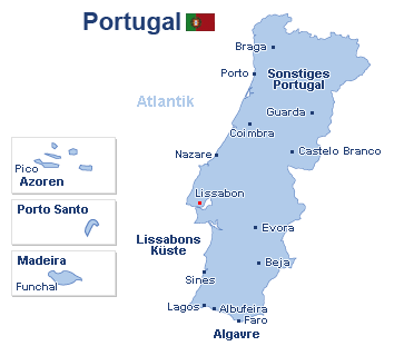 flughäfen portugal karte Reisen Portugal günstig buchen! Reisen.de flughäfen portugal karte